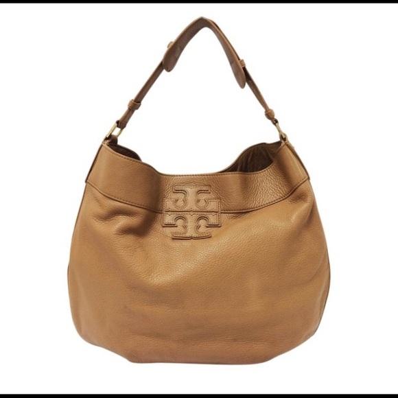 1e8c823b9673 Tory Burch Tan Leather Stacked T Hobo Bag
